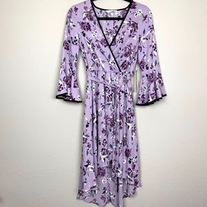 June & Hudson Purple Floral Dress NWT